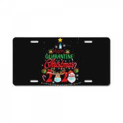 merry quarantine christmas 2020 2 License Plate | Artistshot