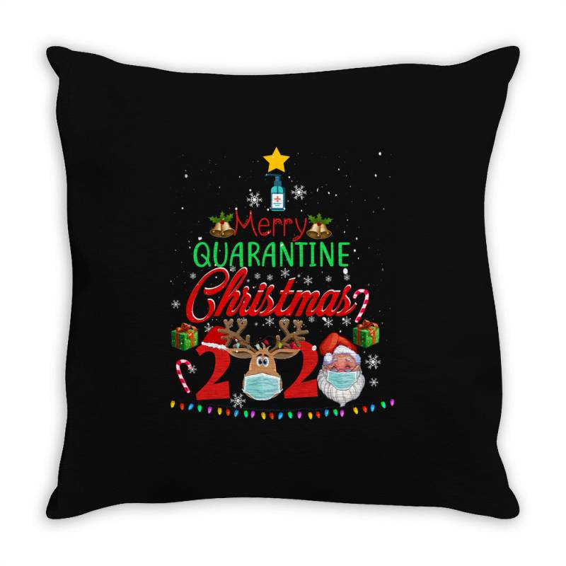 Merry Quarantine Christmas 2020 2 Throw Pillow | Artistshot
