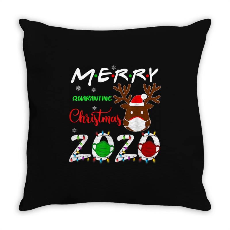 Merry Quarantine Christmas 2020 Throw Pillow | Artistshot