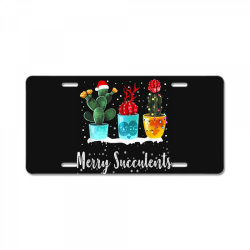 merry succulents christmas cactus succa License Plate | Artistshot