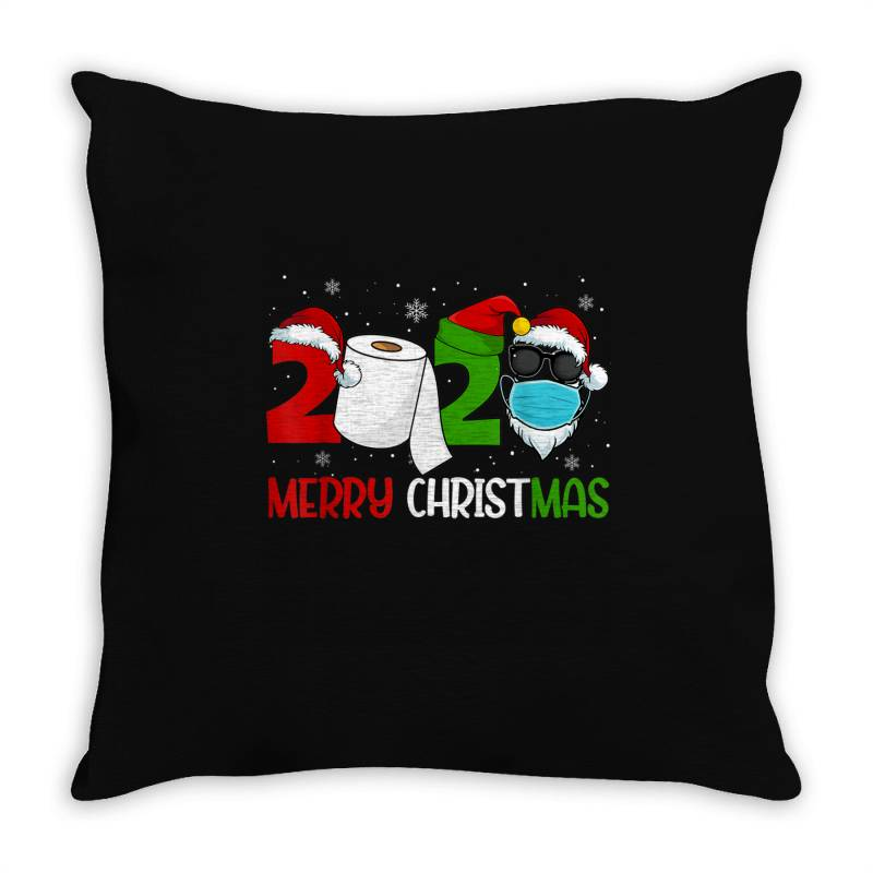 Merry Xmas 2020 Quarantine Throw Pillow | Artistshot