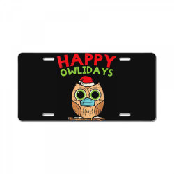 owl in mask cute christmas quarantine License Plate | Artistshot