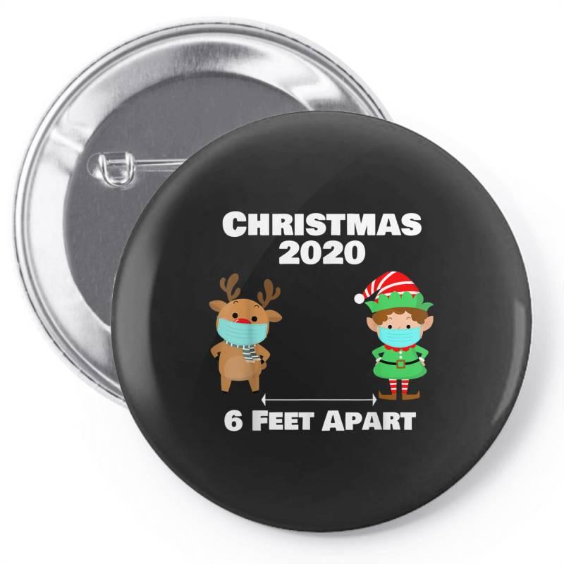 Quarantine Christmas Shirt 6 Feet Pin-back Button | Artistshot