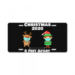 quarantine christmas shirt 6 feet License Plate | Artistshot