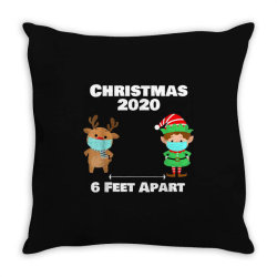 quarantine christmas shirt 6 feet Throw Pillow | Artistshot
