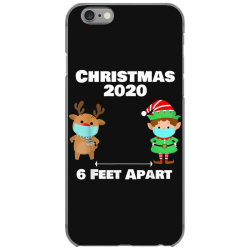 quarantine christmas shirt 6 feet iPhone 6/6s Case | Artistshot