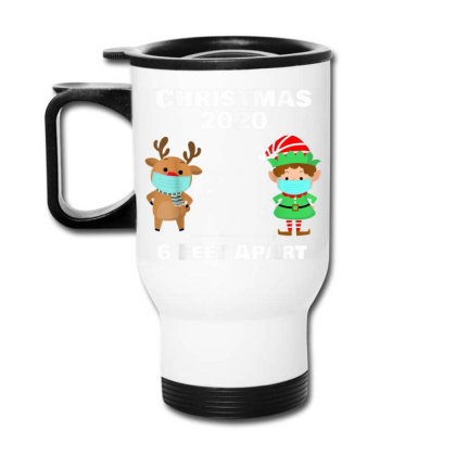 Quarantine Christmas Shirt 6 Feet Travel Mug Designed By Koopshawneen