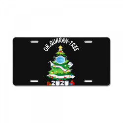 quarantine christmas tree ornament mask License Plate | Artistshot