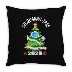 quarantine christmas tree ornament mask Throw Pillow | Artistshot
