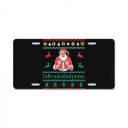 santa claus middle finger License Plate | Artistshot