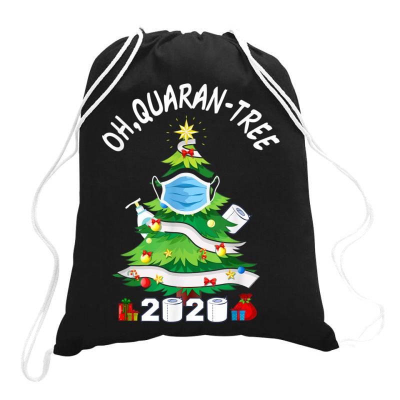 Quarantine Christmas Tree Ornament Mask Drawstring Bags | Artistshot