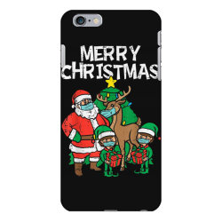 santa elves reindeer in mask iPhone 6 Plus/6s Plus Case | Artistshot
