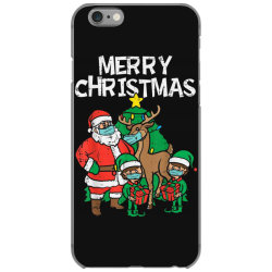 santa elves reindeer in mask iPhone 6/6s Case | Artistshot