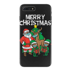 santa elves reindeer in mask iPhone 7 Plus Case | Artistshot