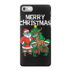 santa elves reindeer in mask iPhone 7 Case | Artistshot