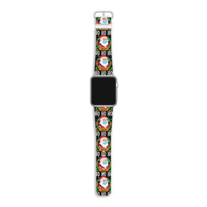 Santa Face Mask Funny Christmas Apple Watch Band Designed By Koopshawneen