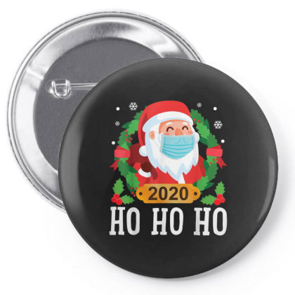 Santa Face Mask Funny Christmas Pin-back Button Designed By Koopshawneen