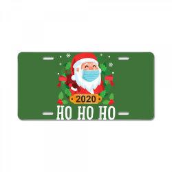 santa face mask funny christmas License Plate | Artistshot