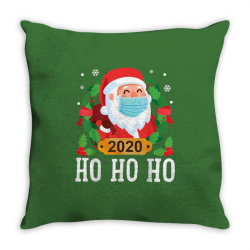 santa face mask funny christmas Throw Pillow | Artistshot