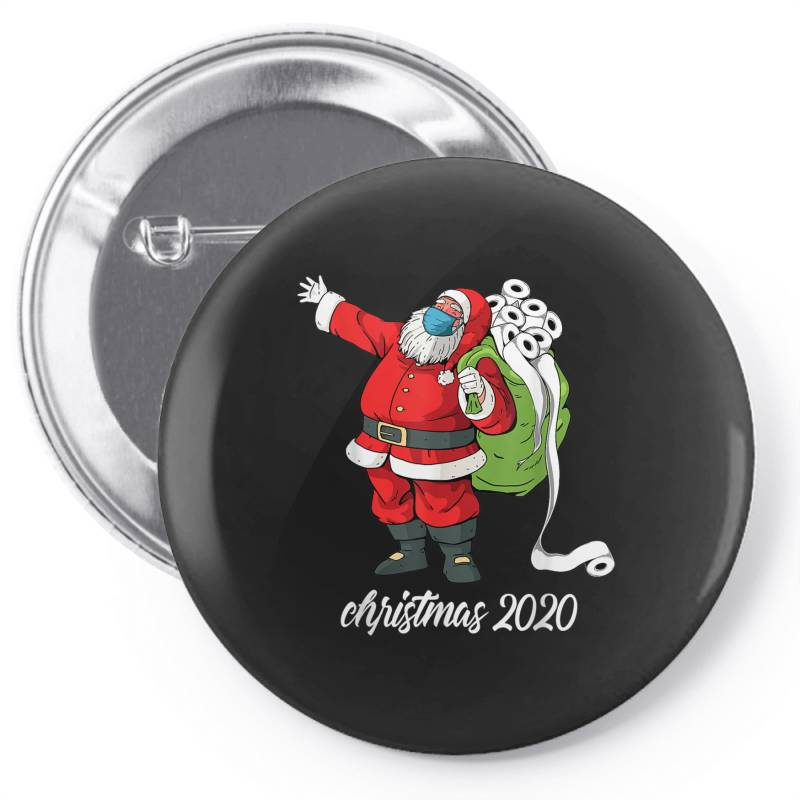 Santa With Face Mask And Toilet Paper Pin-back Button | Artistshot