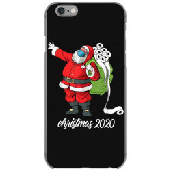 santa with face mask and toilet paper iPhone 6/6s Case | Artistshot