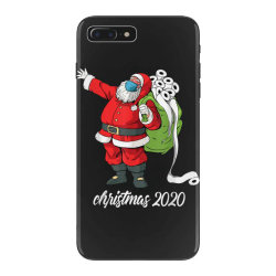 santa with face mask and toilet paper iPhone 7 Plus Case | Artistshot