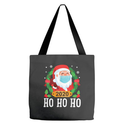Santa Face Mask Funny Christmas Tote Bags Designed By Koopshawneen