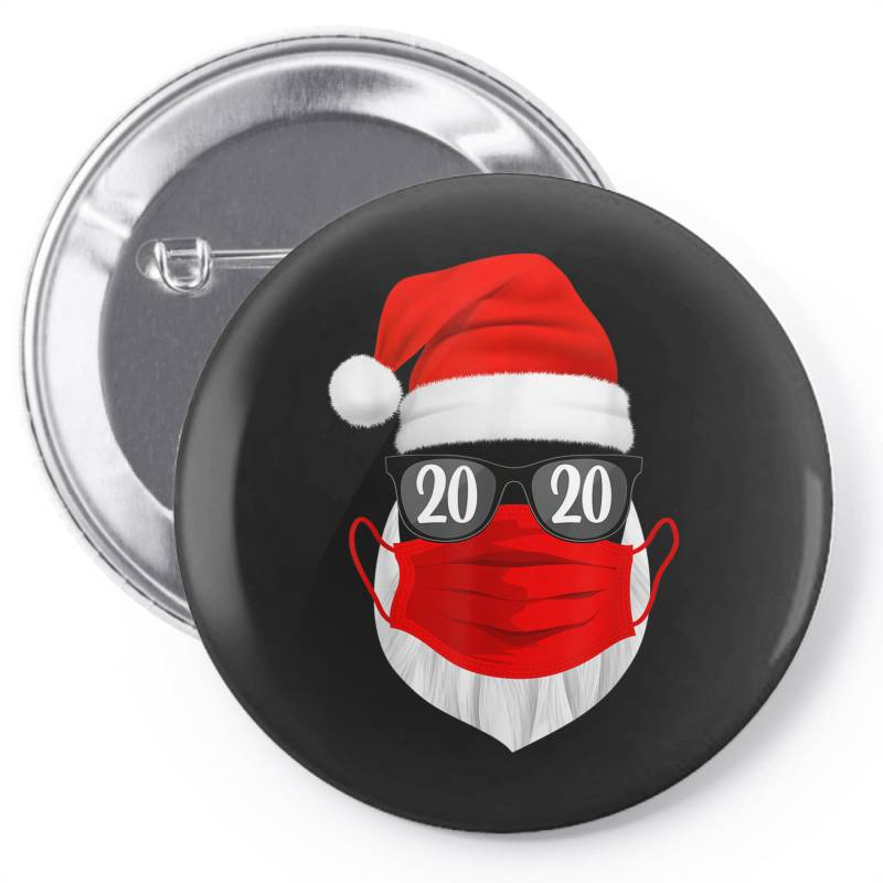 Santa With Face Mask Christmas 2020 Pin-back Button | Artistshot