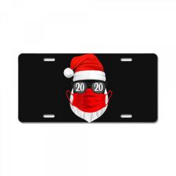 santa with face mask christmas 2020 License Plate | Artistshot