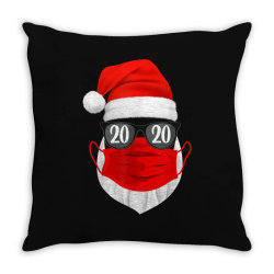 santa with face mask christmas 2020 Throw Pillow | Artistshot
