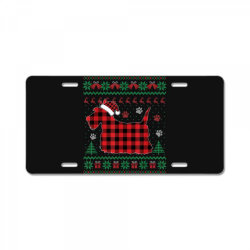 scottie dog christmas License Plate | Artistshot
