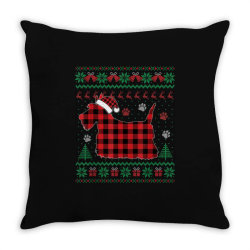 scottie dog christmas Throw Pillow | Artistshot