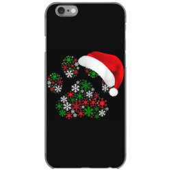snowflakes dog paw santa iPhone 6/6s Case | Artistshot