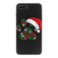snowflakes dog paw santa iPhone 7 Plus Case | Artistshot