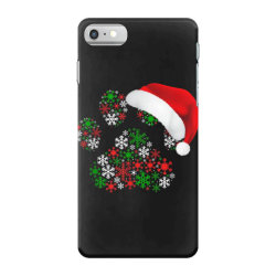 snowflakes dog paw santa iPhone 7 Case | Artistshot