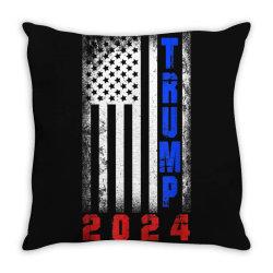 trump 2024 for president Throw Pillow | Artistshot