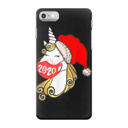 unicorn christmas face mask iPhone 7 Case | Artistshot