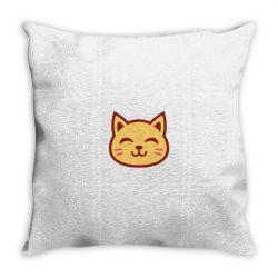 cute cat Throw Pillow   Artistshot