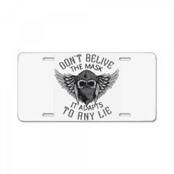 skull in bandana and hoodie with wings License Plate | Artistshot