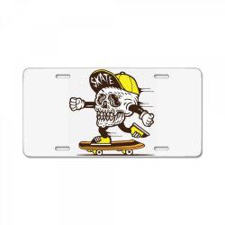 skull head skater skateboard License Plate | Artistshot