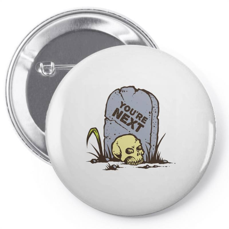 Skull In The Graveyard Pin-back Button | Artistshot