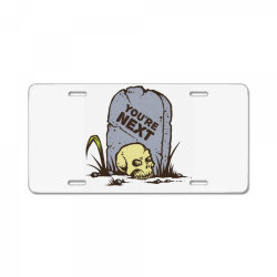 skull in the graveyard License Plate | Artistshot