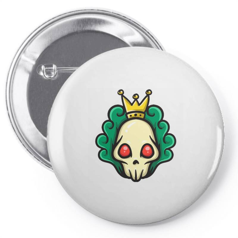 Skull Head With King Crown Pin-back Button | Artistshot