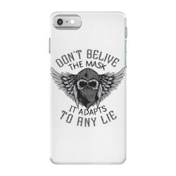 skull in bandana and hoodie with wings iPhone 7 Case | Artistshot