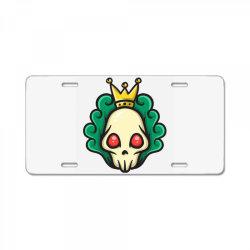 skull head with king crown License Plate | Artistshot