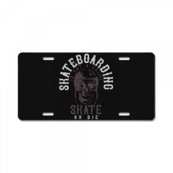 skull in skateboard helmet License Plate | Artistshot