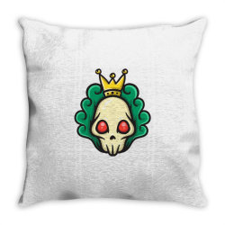 skull head with king crown Throw Pillow | Artistshot