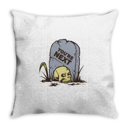 skull in the graveyard Throw Pillow | Artistshot