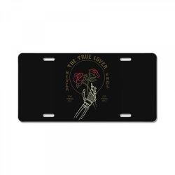 skull hand rose License Plate | Artistshot