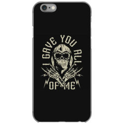 skull in bandana and hoodie with skeleton hands iPhone 6/6s Case | Artistshot
